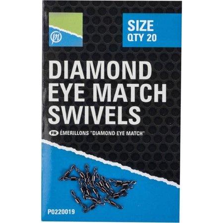 Preston Innovations Diamond Eye Match Swivels