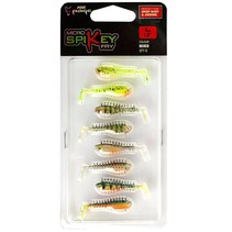 Micro Spikey Shads 4cm Mixed Colour Pack