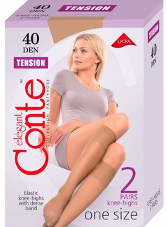 Conte Kniekousen TENSION  40 den (2-pack)