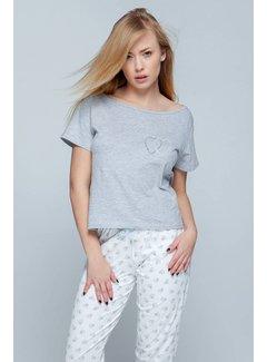 Sensis Pyjama Heart Grijs