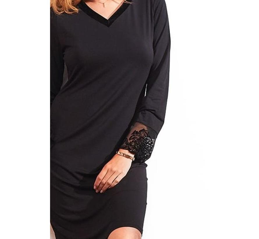 Nachthemdje Charm Zwart 3106