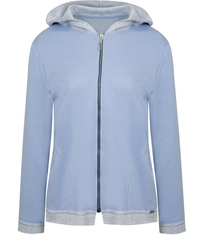 Cybele Hoodie met een rits blauw/grijs 7-800329