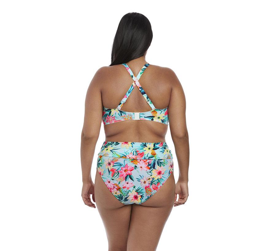 Bikini Fold Slip Aloha Aqua ES7154