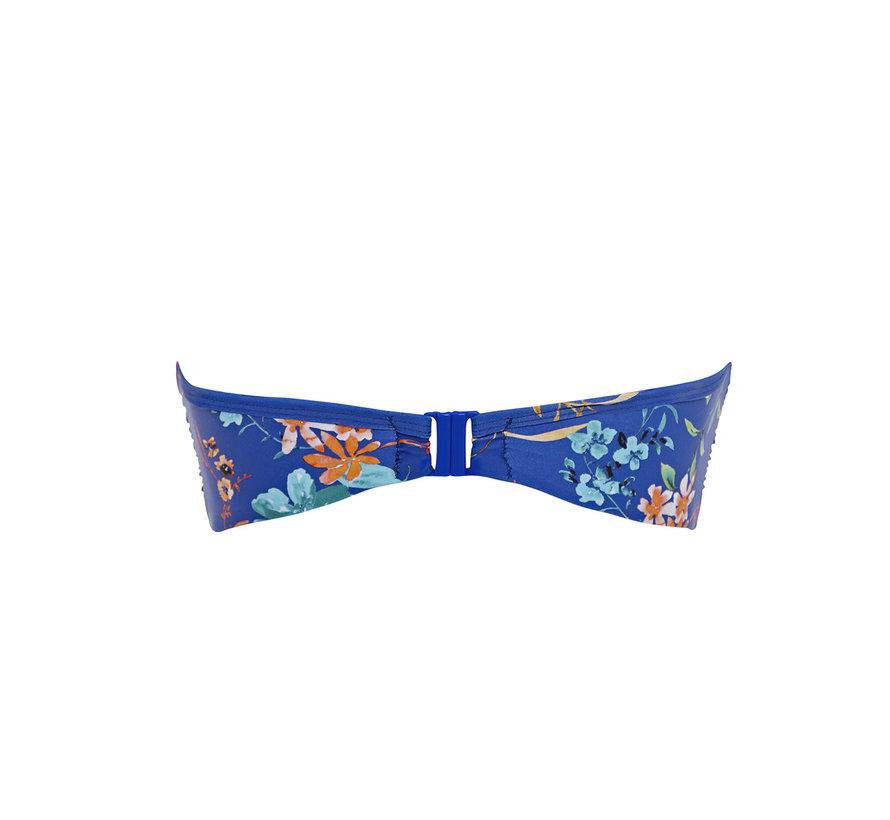 Bikni Top Bandeau Florentine Cobalt Floral SW1053