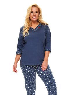 Doctor Nap Pyjama Plus Size Donker Blauw PB.9778
