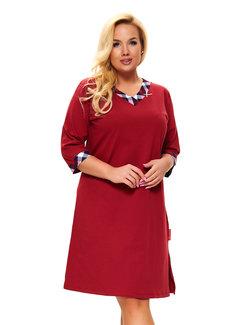 Doctor Nap Nachthemdje Plus Size Rode Wijn TB.9777