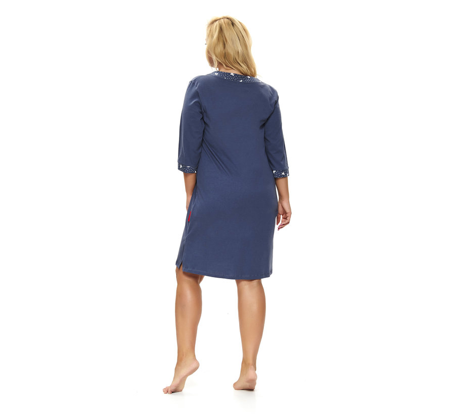 Nachthemdje Plus Size Donker Blauw TB.9777