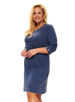 Doctor Nap Nachthemdje Plus Size Donker Blauw TB.9777
