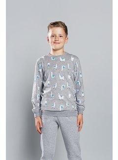 Italian Fashion Familie Pyjama voor kinderen Lama Grijs 149