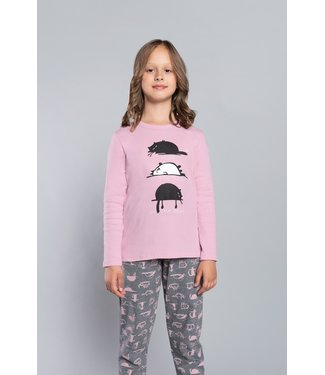Italian Fashion Familie Pyjama voor kinderen Dima Roze 145