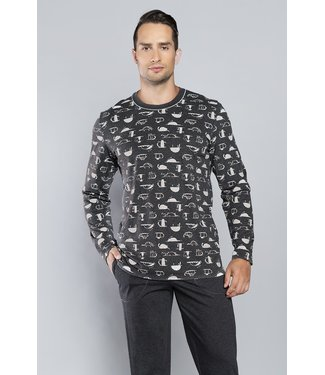 Italian Fashion Familie Pyjama Salem Melange 132