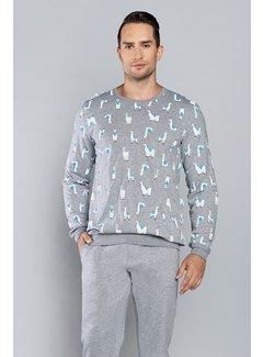 Italian Fashion Familie Pyjama Lama Melange 134