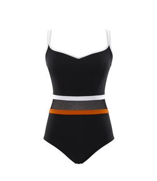 Panache Swim BP-UW-ST - Kira - Black/Orange - SW1380