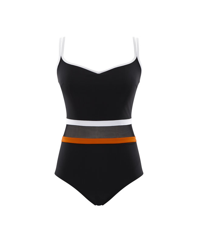 Panache Swim BP-UW-ST - Kira - Black/Orange - SW1380