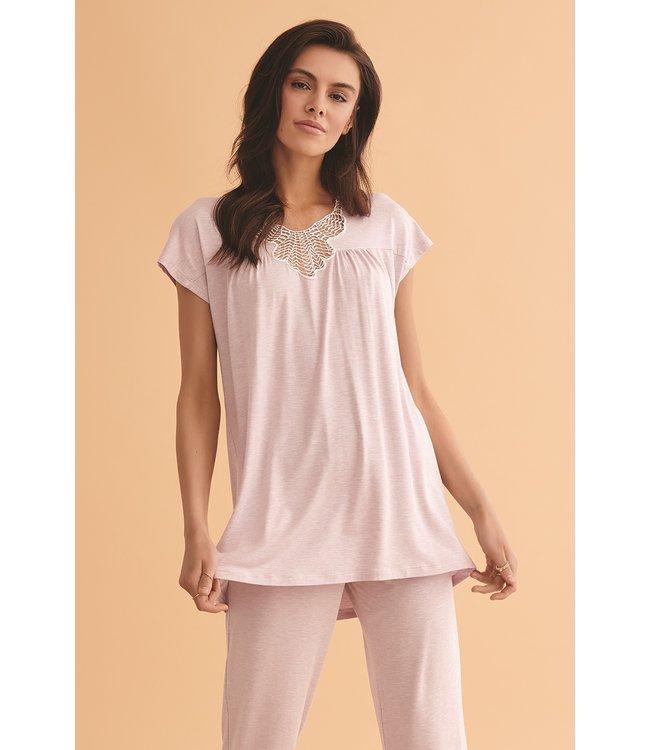 Vanilla Night & Day Pyjama Purple Melange 3421