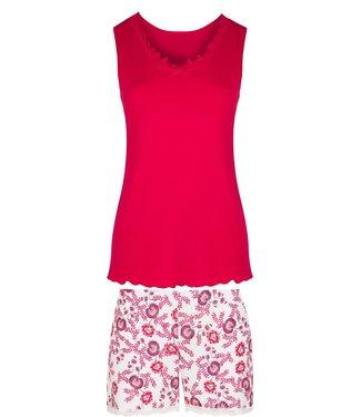 Cybele Pyjama met short Rood 7-810441