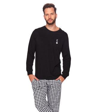 Doctor Nap Familie Pyjama voor papa King Zwart PMB.4124