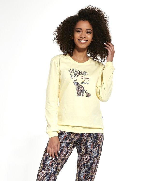 Cornette Familie Pyjama voor mama Elephants 671/259