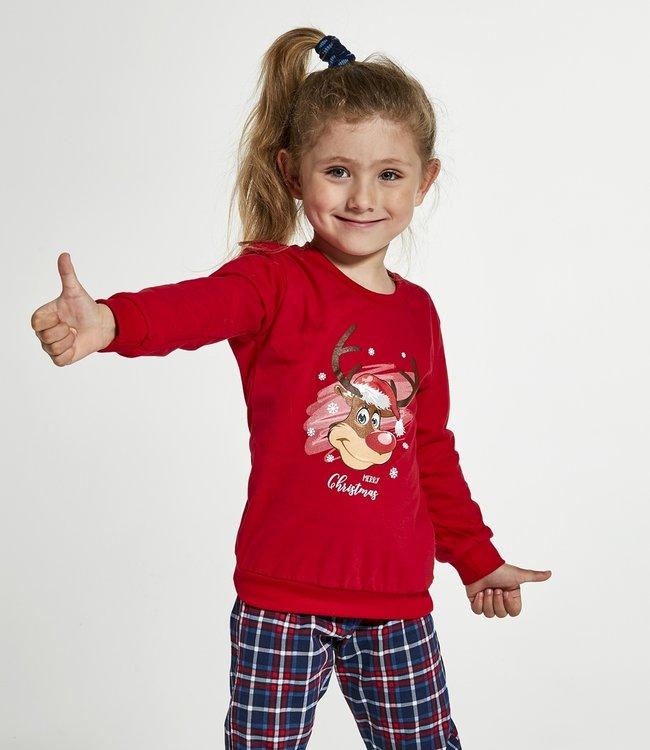 Cornette Familie Pyjama voor meisjes Reindeer 594/130 592/130