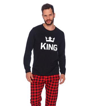 Doctor Nap Familie Pyjama voor papa King Zwart PMB.9761