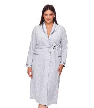 Doctor Nap Kamerjas Plus Size Grey Melange SWA.1078