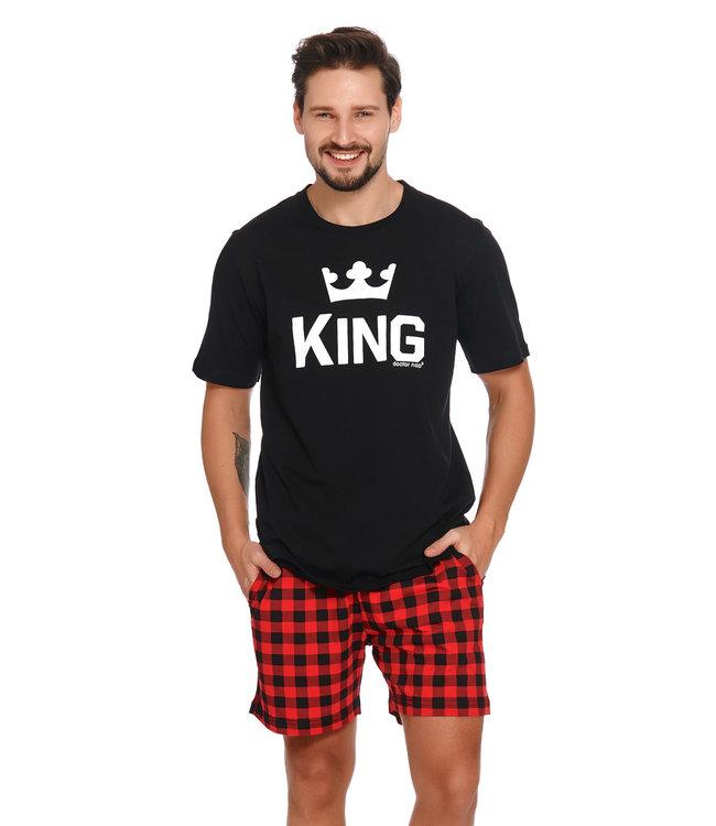 Doctor Nap Pyjama voor heren King Zwart Kort PMB.9952