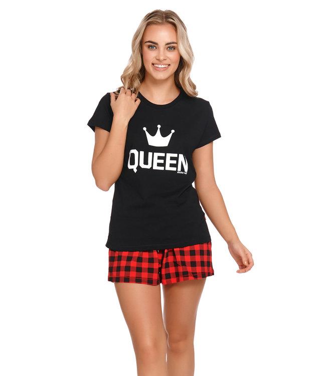 Doctor Nap Pyjama Queen Zwart Kort PM.9943