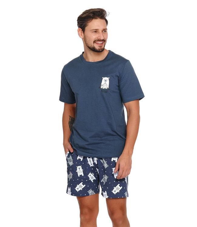 Doctor Nap Pyjama voor heren Bear Yourself Deep Blue PMB.4222