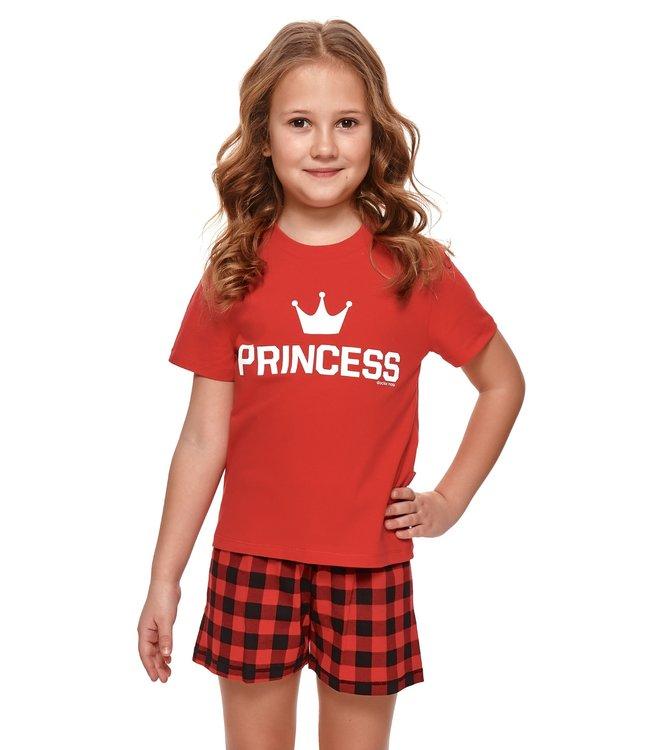 Doctor Nap Pyjama voor meisjes Princess Rood Kort PDB.4264