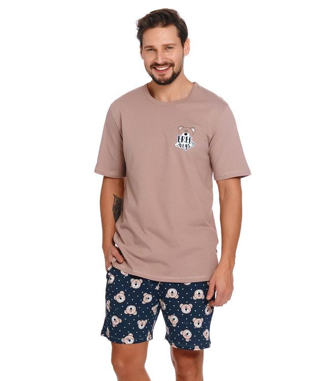 Doctor Nap Pyjama voor heren Bear Beige PMB.4245