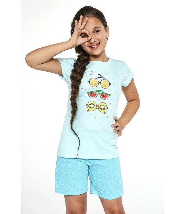 Cornette Pyjama voor meisjes Fruit 2 Blauw 788/75