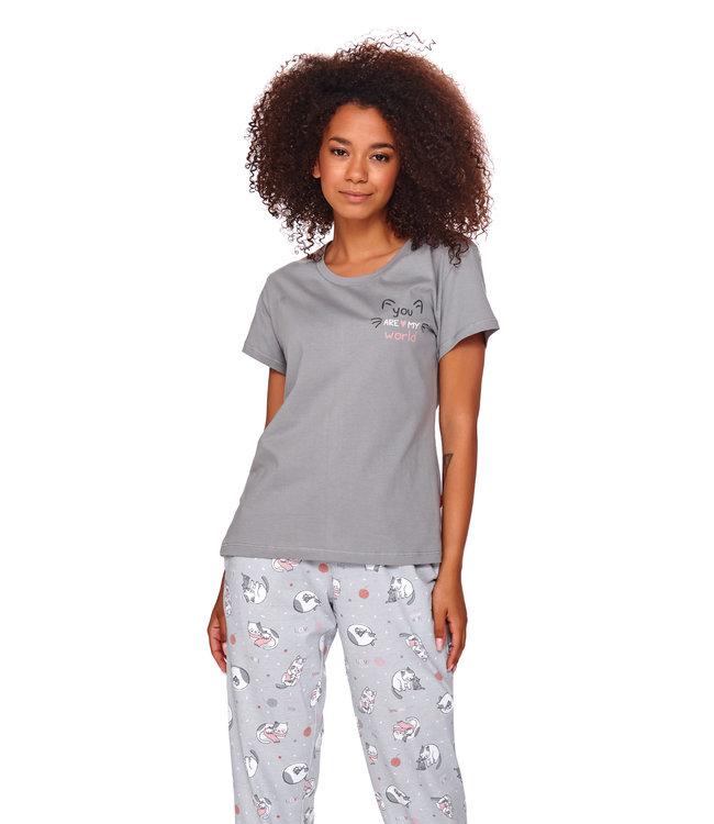 Doctor Nap Pyjama Kitty Grey Lang PM.4120