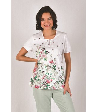Cybele Pyjama Wit met Bloemen 7-810535
