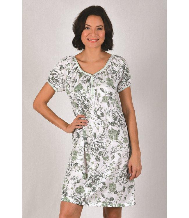 Cybele Nachthemd Wit/Groen 7-800533
