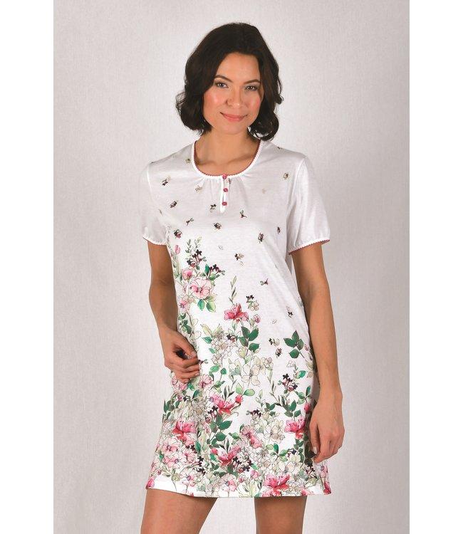 Cybele Nachthemd Wit met Bloemen 7-800535