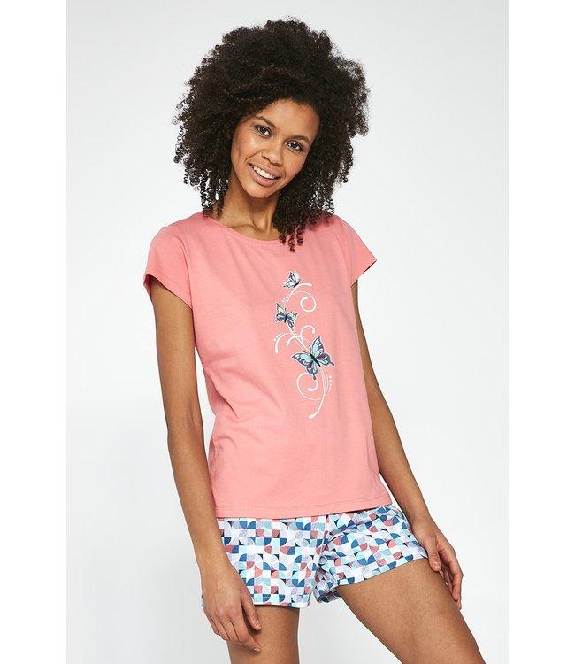 Cornette Pyjama voor dames (3-delig set) Tree Butterflies 665/202