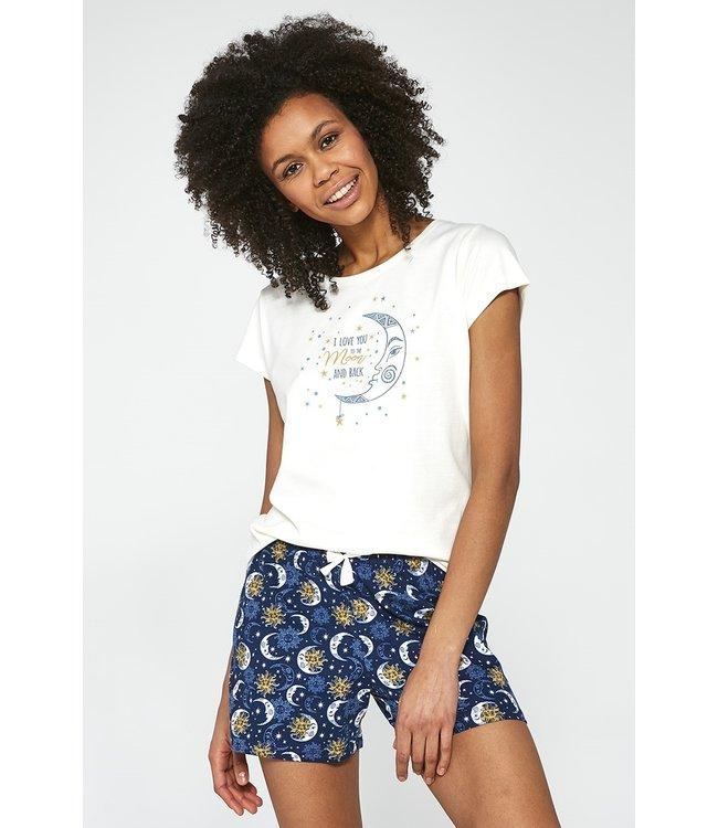 Cornette Pyjama voor dames (3-delig set) Moon 388/203