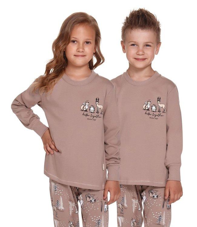 Doctor Nap Pyjama voor kinderen Better Together Beige PDU.4324