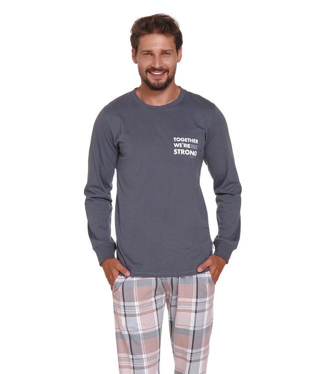Doctor Nap Pyjama voor heren Strong Grijs PMB.4329