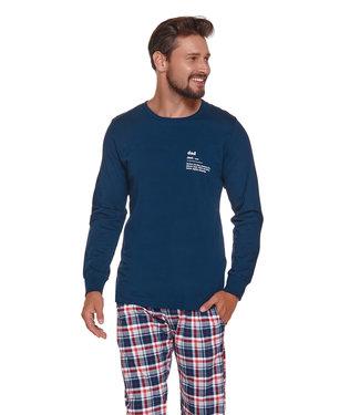 Doctor Nap Pyjama voor heren Dad  Rood Blauw PMB.4329