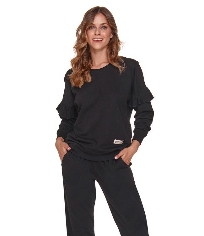 Doctor Nap Pyjama voor dames Frullen Zwart PM.4351