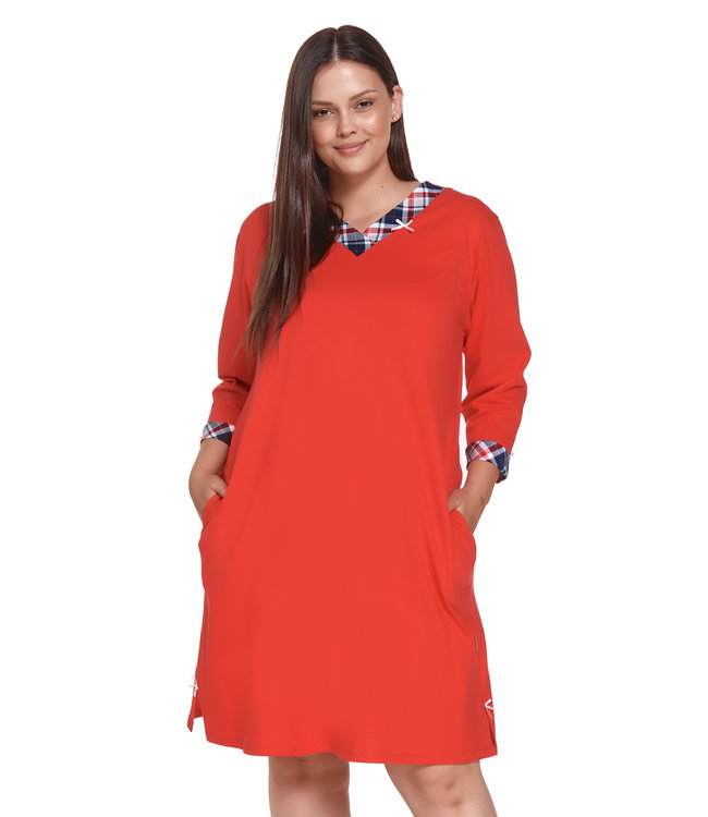 Doctor Nap Nachthemdje Plus Size Red TB.4364