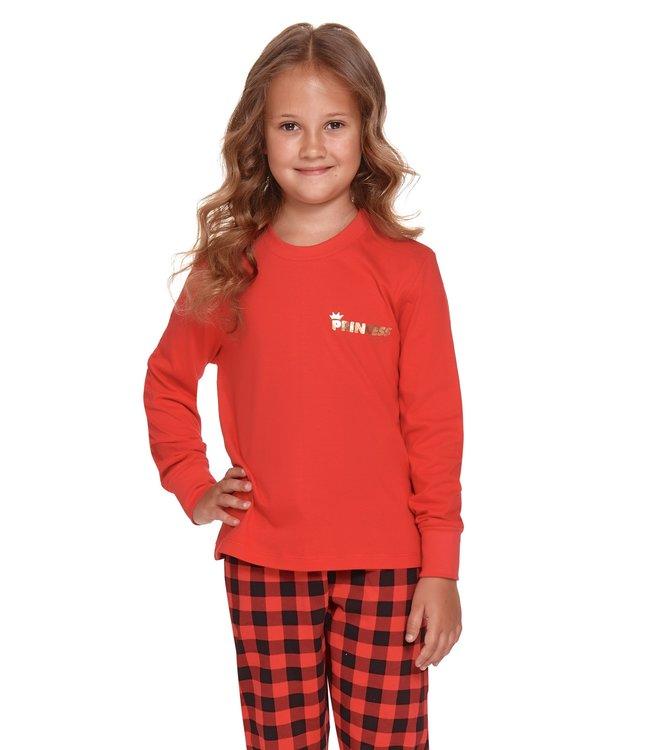 Doctor Nap Pyjama voor meisjes Princess Rood Gold PDG.4368
