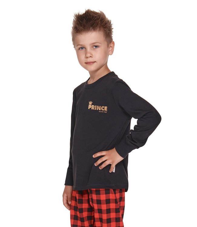 Doctor Nap Pyjama voor jongens Prince Zwart Gold PDG.4368