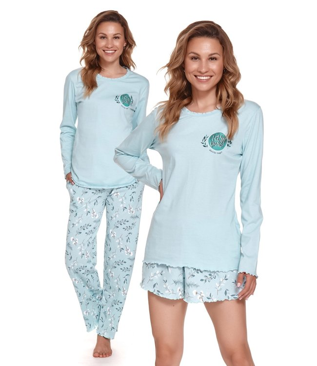 Doctor Nap Pyjama Let's Care 3-delig Pool Blue PMT.4354