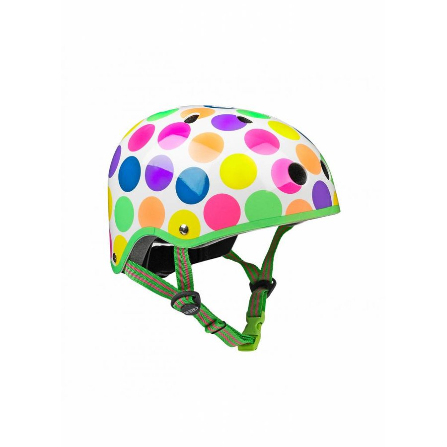 Micro helm Classic neon stippen