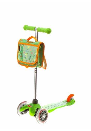 Mini Micro rugzak groen/oranje