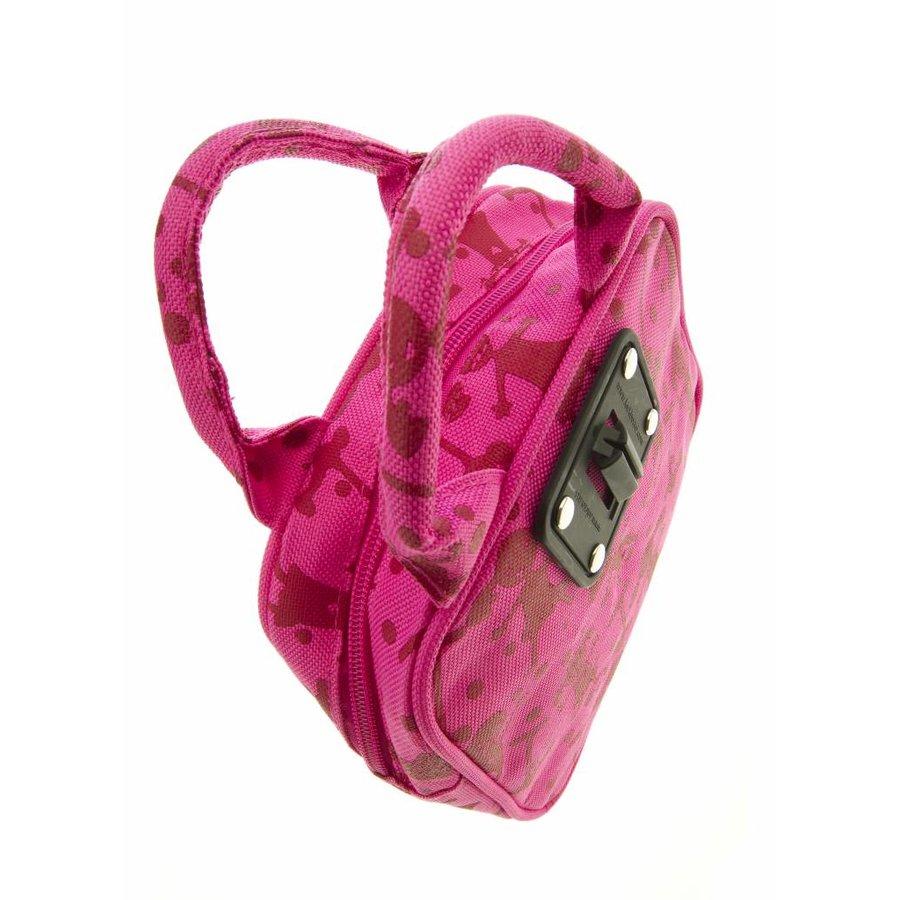 Mini Micro tas roze print