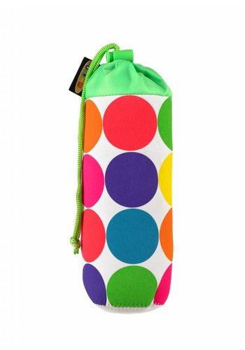 Micro bottle holder neon dots
