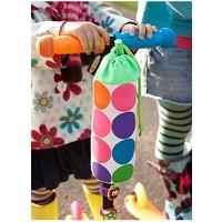 Micro bottle holder neon dots
